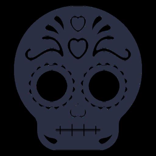 Decorated calavera skull