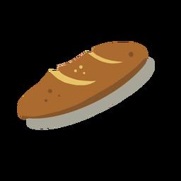 Delicioso pan isométrico