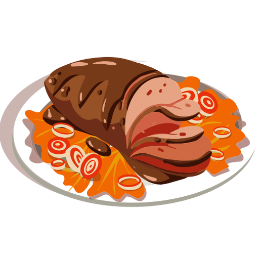 Delicious meatloaf isometric
