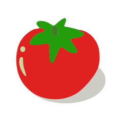 Delicious tomato isometric