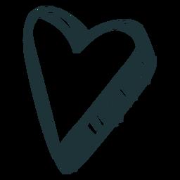 Doodle de trazo de corazón 3d