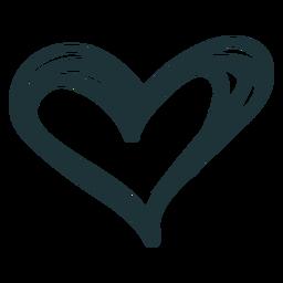 Doodle coração amor fofo