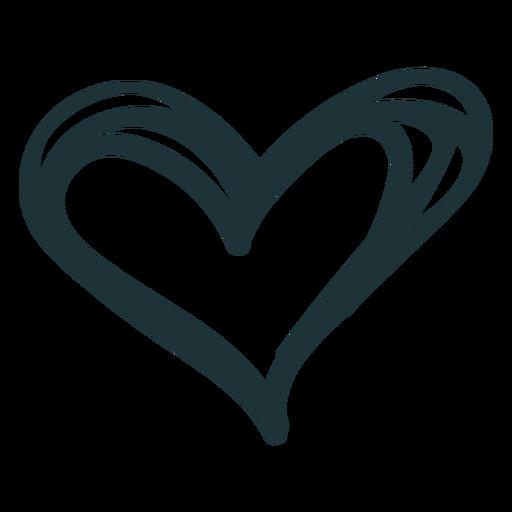 Doodle corazón lindo amor Transparent PNG