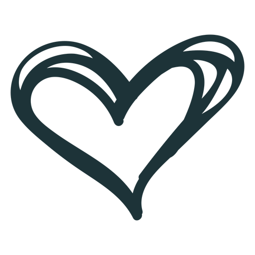 Doodle heart cute love Transparent PNG
