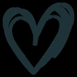 Doodle coração traço bonito