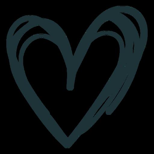 Doodle corazón lindo trazo Transparent PNG