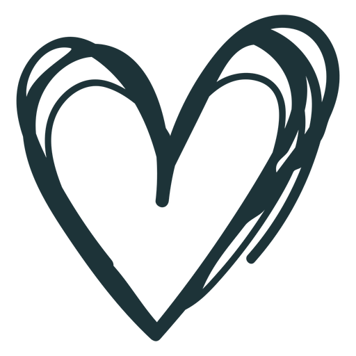 Doodle heart cute stroke Transparent PNG