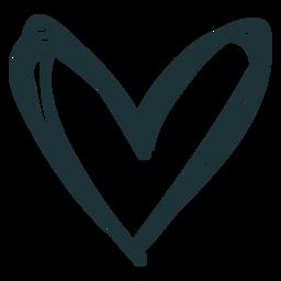 Doodle coração de traçado bonito