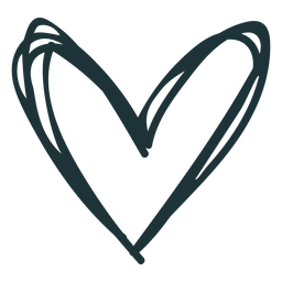 Doodle trazo corazón lindo