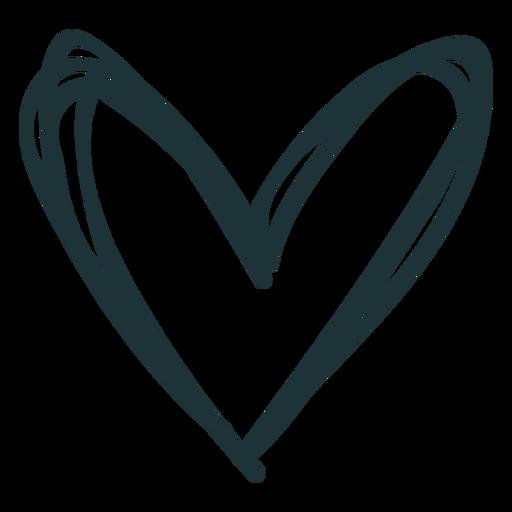 Doodle stroke heart cute Transparent PNG