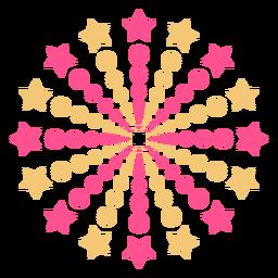 Puntos estrellas colorido trazo de fuegos artificiales