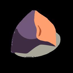 Auberginengemüse isometrisch