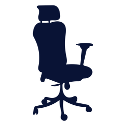 Ergonomic office chair silhouette