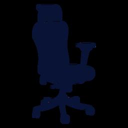 Silla de oficina ergonómica silueta