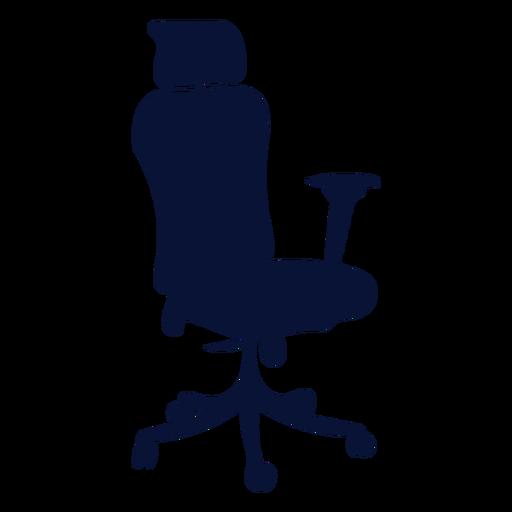Ergonomic office chair silhouette