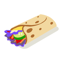 Fast food tortilla isometric