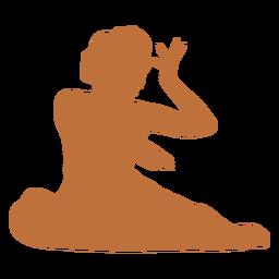 Female dancer indian silhouette