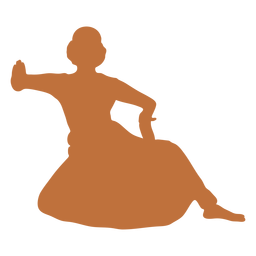 Female indian dancer silhouette