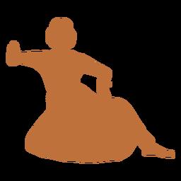Silueta de bailarina india femenina