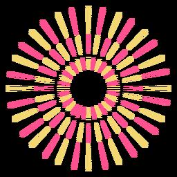Anillo de fuegos artificiales 3 chispas de trazo colorido