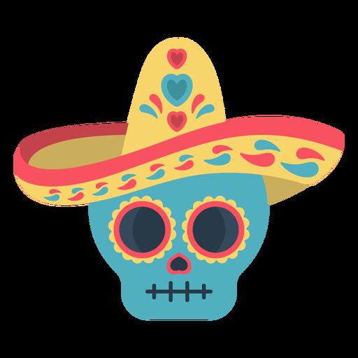 Flat calavera skull colorful Transparent PNG