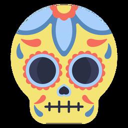 Calavera calavera colorida plana