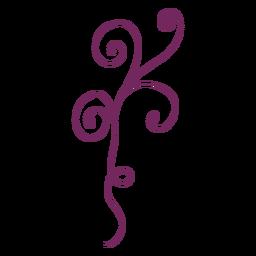 Blumen wirbelnder Verzierungsstrich
