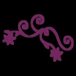 Blume wirbelnder Verzierungsstrich