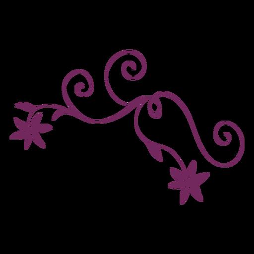Flower swirling ornament stroke Transparent PNG