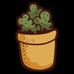 Ilustración de planta de cactus de maceta