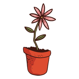 Flowerpot flower plant illustration