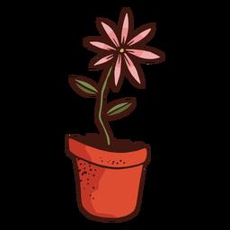 Ilustración de planta de flor de maceta