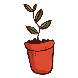 Flowerpot plant leaf illustration