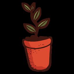Ilustración de hoja de planta de maceta