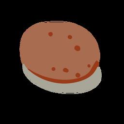 Alimento patata roja isométrica