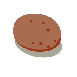 Lebensmittel rote Kartoffel isometrisch