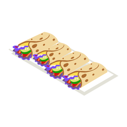 Comida sabrosa taco isométrica