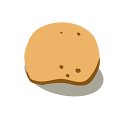 Comida de batata branca isométrica