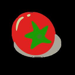Fresh red tomato isometric
