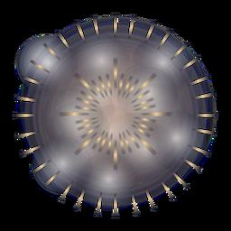 Gradient 2 anel de fogo de artifício legal