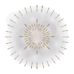 Gradiente 2 anillo de fuegos artificiales frescos