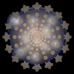 Gradient mass dots stars firework