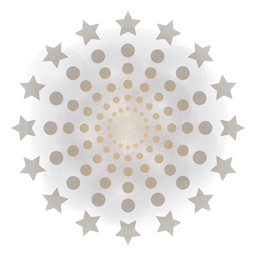 Gradiente de masa puntos estrellas fuegos artificiales