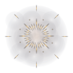 Gradient star shaped firework
