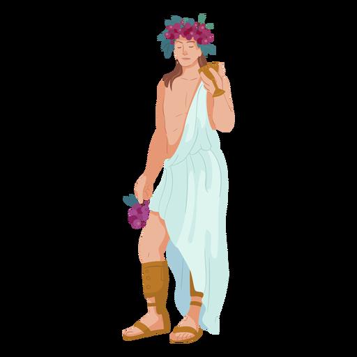 Deus grego colorido dionísio Transparent PNG