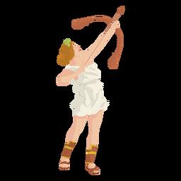 Deusa grega artemis colorido