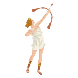 Griechische Göttin Artemis bunt
