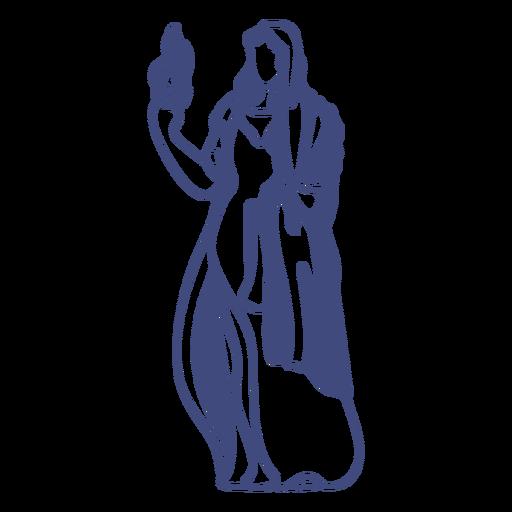 Diosa griega hestia Transparent PNG