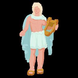 Deuses gregos apolo colorido