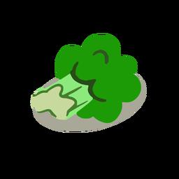 Brócoli verde isométrico